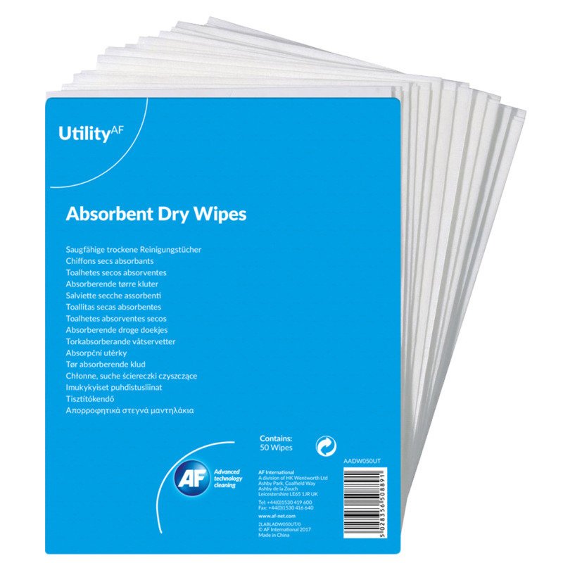 Image of Value General Purpose Absorbent Dry Wipes (Pack 50)