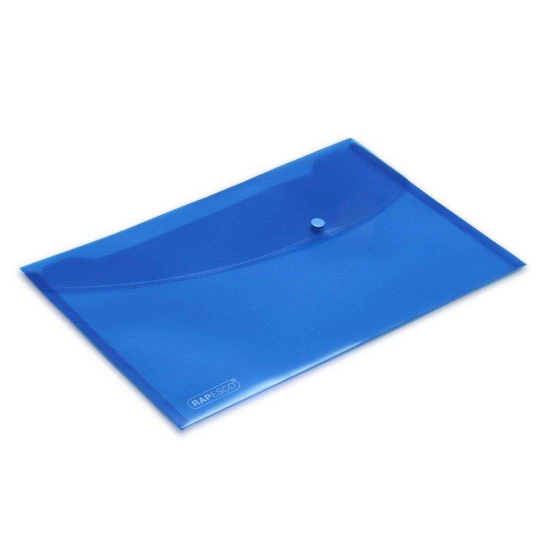 Rapesco Foolscap Blue Popper Wallet (Pack of 5)
