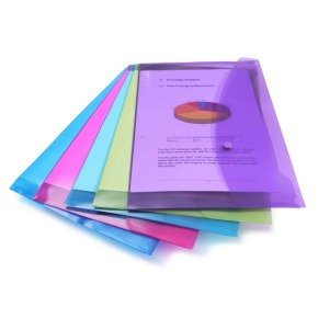 Rapesco Foolscap Assorted Popper Wallet (Pack of 5)