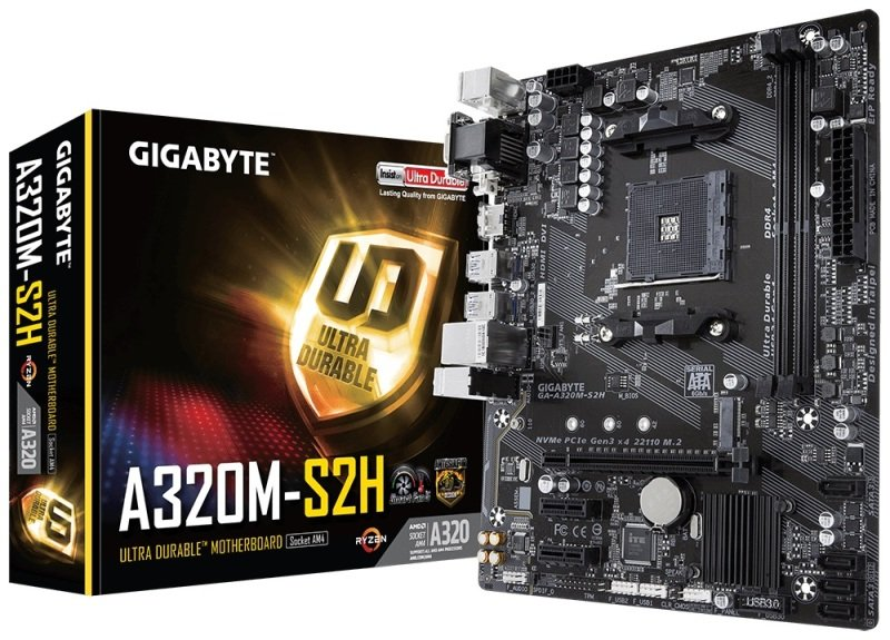 EXDISPLAY Gigabyte A320M-S2H AM4 DDR4 mATX Motherboard