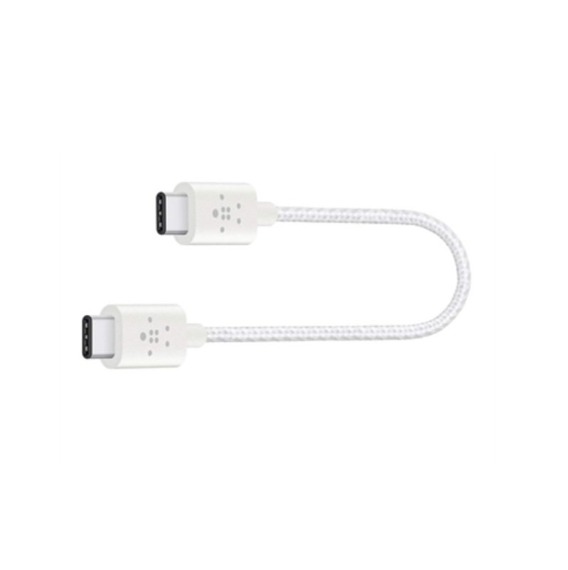 Belkin MIXIT Metallic USB-C to USB-C White Charging Cable