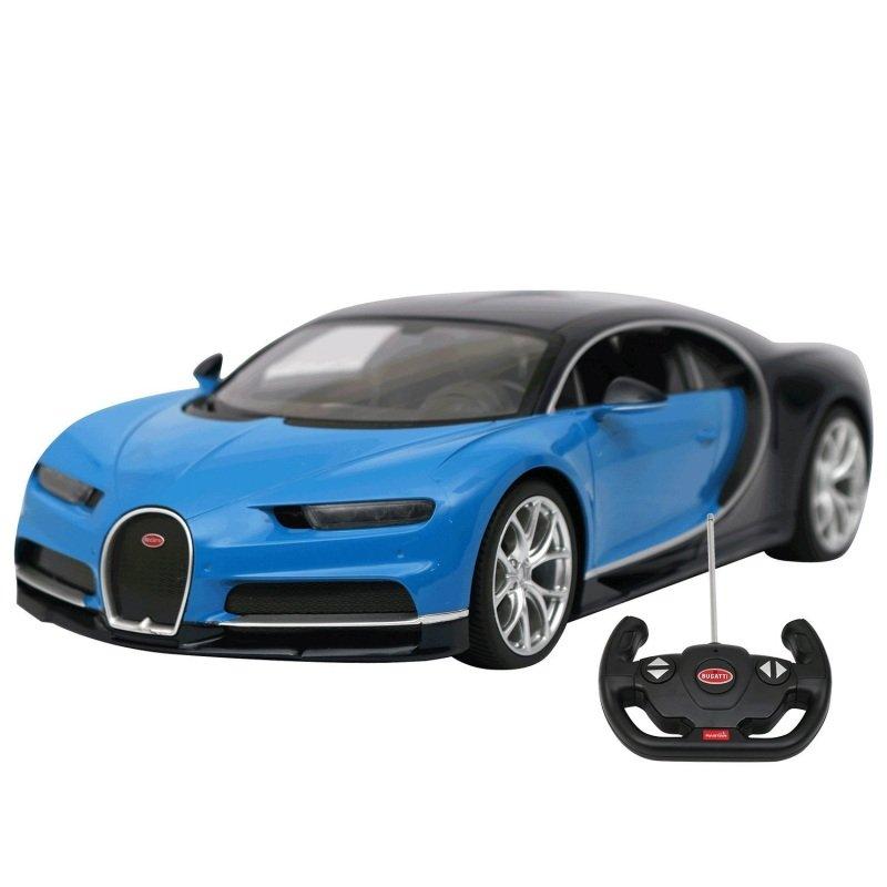 Rastar Remote Controlled Bugatti Chiron Blue/Black