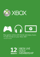 Xbox Live Prepaid 12 Month Gold Subscription