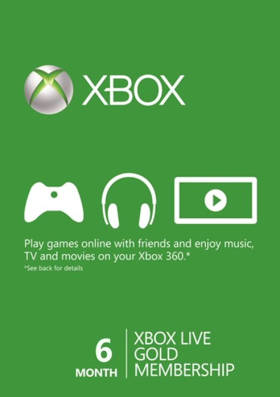Xbox Live Prepaid 6 Month Gold Subscription