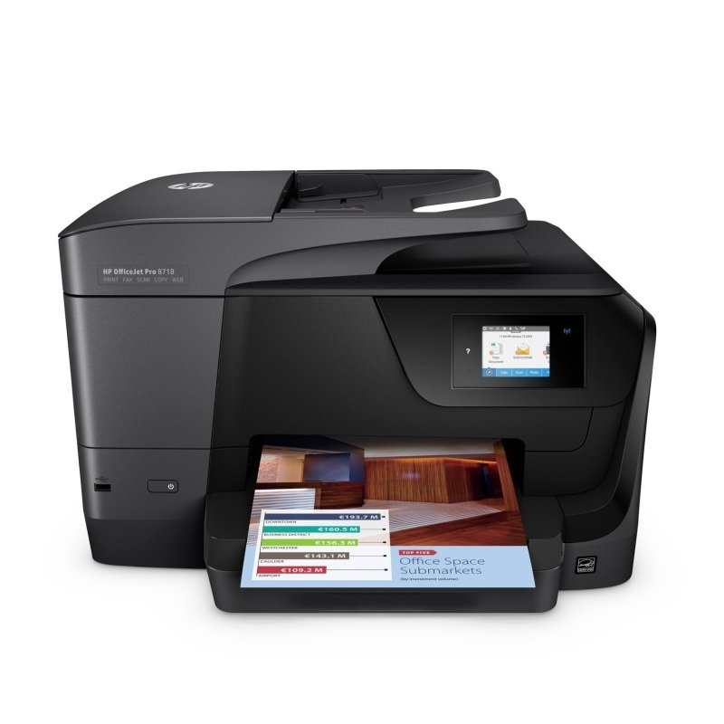 HP Officejet Pro 8718 Multi-Function Wireless Inkjet Printer with 12 months Instant Ink Included