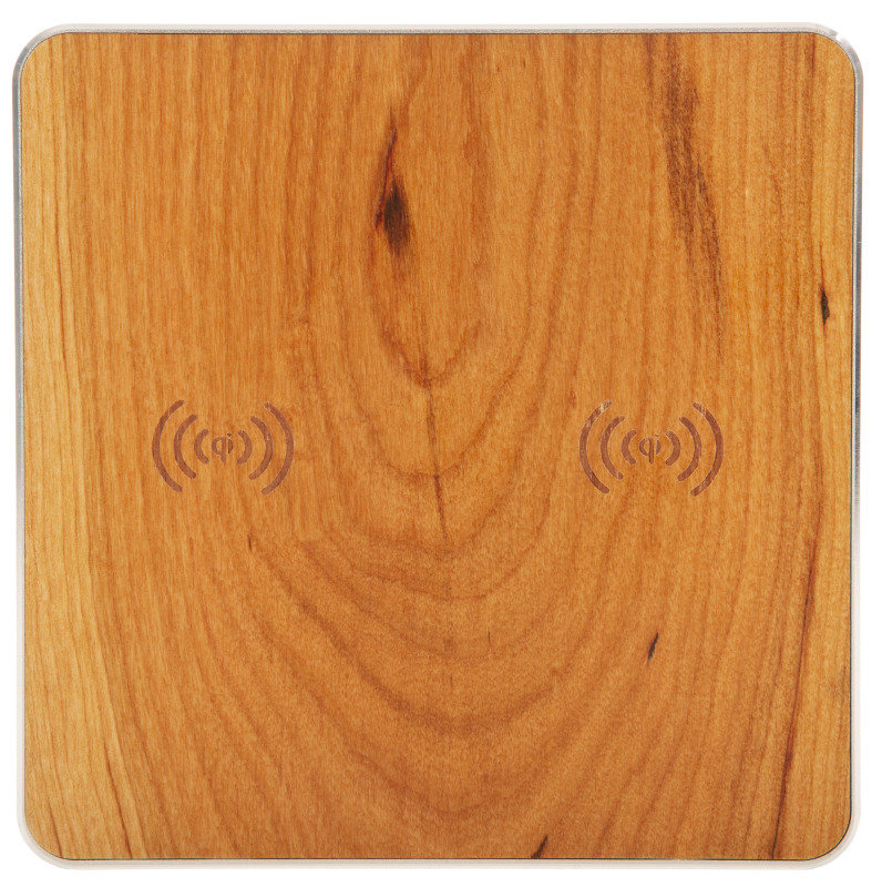 Double Wooden Wireless Charger Pad
