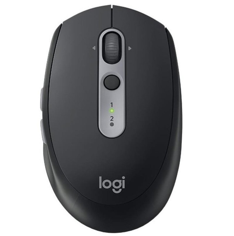 Image of Logitech M590 Silent - Mouse - Right-handed - Optical - 7 Buttons - Wireless - Bluetooth, 2.4 Ghz - Usb Wireless Receiver - Graphite Tonal