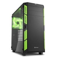 Sharkoon AI7000 Glass ATX Mid Tower Case - Green