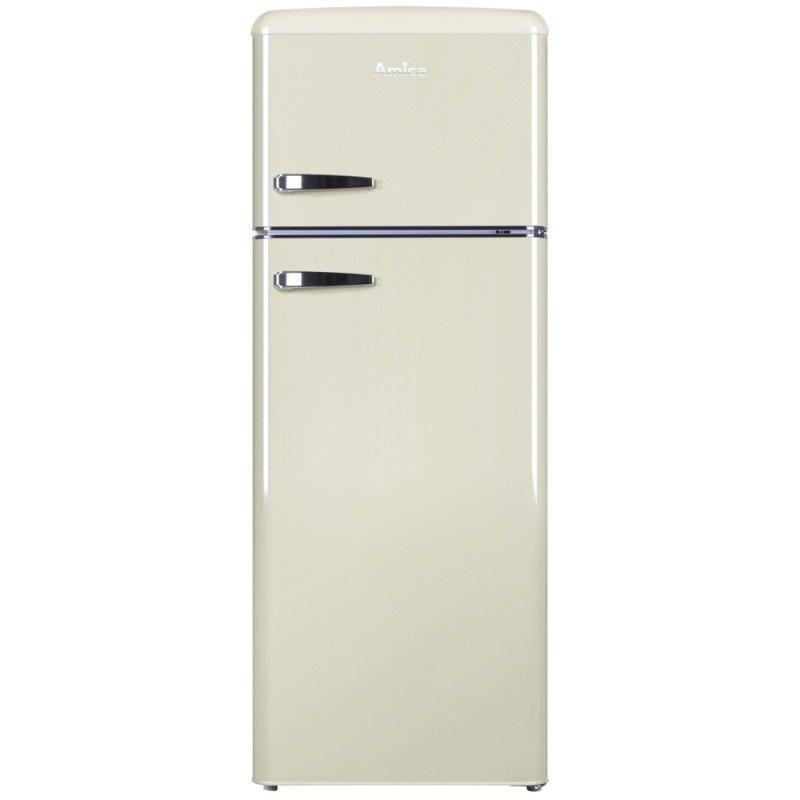Amica Retro-style fridge freezer 55cm width Cream