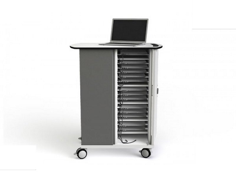 Zioxi CHRGT-CB-20 Chromebook & Netbook 20 Bay Store and Charge Trolley - Key Lock