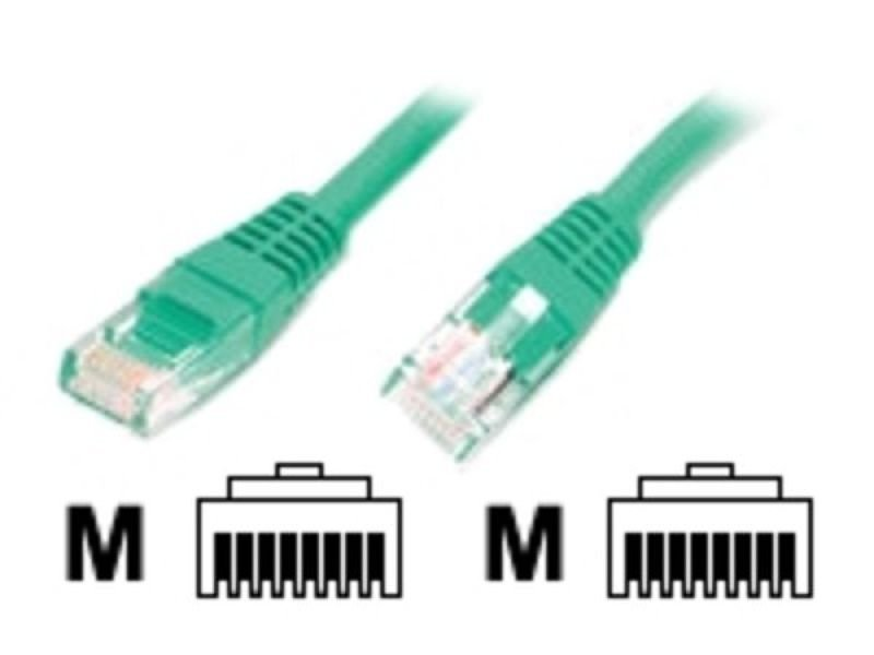 Image of 10FT CAT5E GREEN MOLDED RJ45 - UTP CAT 5E PATCH CAB