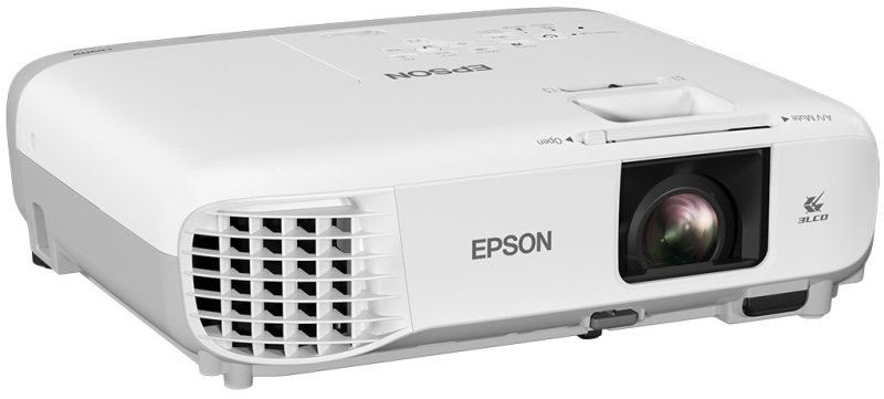 Epson EB-108 3,700 lumens XGA 3LCD Projector, 1024x768 Native resolution, High contrast ratio (15,000:1), x1.2 Optical zoom Long lamp life (6,000h normal/12,000h eco mode), Low fan noise for reduced disruption (37dB normal / 28dB eco mode) Horizontal and