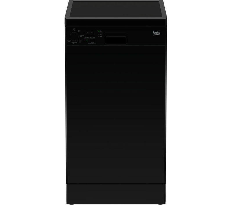 Beko DFS05010B Freestanding Slimline Dishwasher - Black