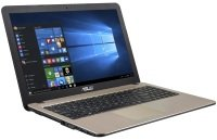 EXDISPLAY ASUS VivoBook 15 X540NA Laptop Intel Pentium N4200 1.1GHz 4GB RAM 1TB HDD 15.6 LED No-DVD Intel HD WIFI Webcam Bluetooth Windows 10 Home 64bit - chocolate black IMR with hairline (LCD cover) gold IMR with hairline (top)