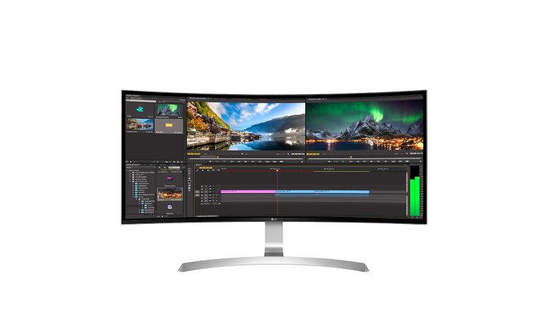 """LG 34UC99 34"""" 21:9 WQHD IPS Curved LED Monitor"""