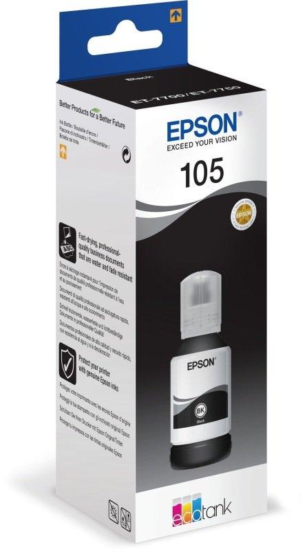 Epson 105 Black ECOTANK Ink Bottle - 140 ml
