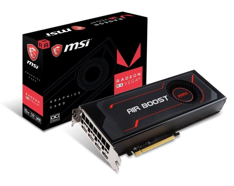 MSI RADEON RX VEGA 64 Air Boost 8GB OC HBM2 Graphics Card