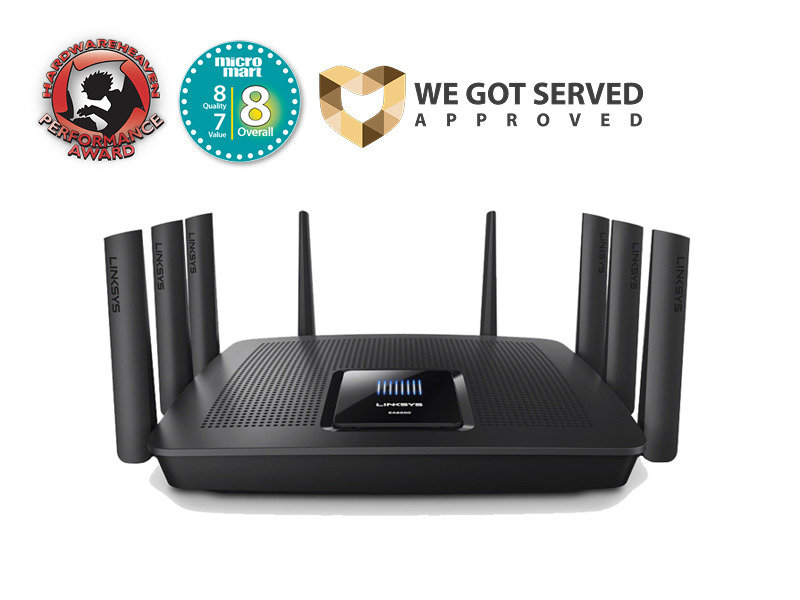 Linksys Max-Stream Tri-band Gigabit Smart Wi-fi Router AC5400