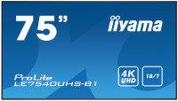 "Iiyama ProLite LE7540UHS-B1 75"" 4K UHD Large Format Display"