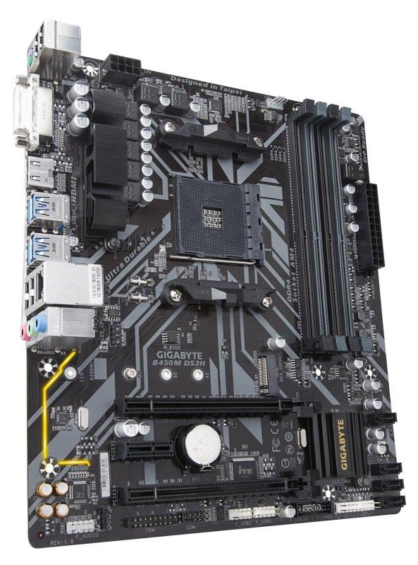 Gigabyte B450M DS3H AM4 DDR4 mATX Motherboard