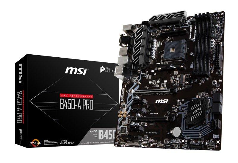MSI B450-A PRO AM4 DDR4 ATX Motherboard