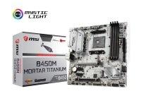 MSI B450M MORTAR TITANIUM AM4 DDR4 mATX Motherboard