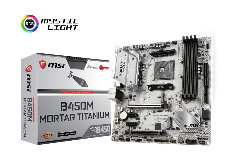 MSI B450M MORTAR TITANIUM AM4 DDR4 mATX Motherboard | Ebuyer com