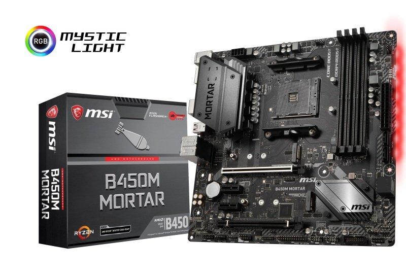 MSI B450M MORTAR AM4 DDR4 mATX Motherboard