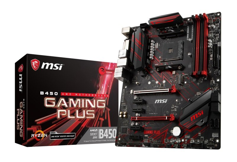MSI B450 GAMING PLUS AM4 DDR4 ATX Motherboard