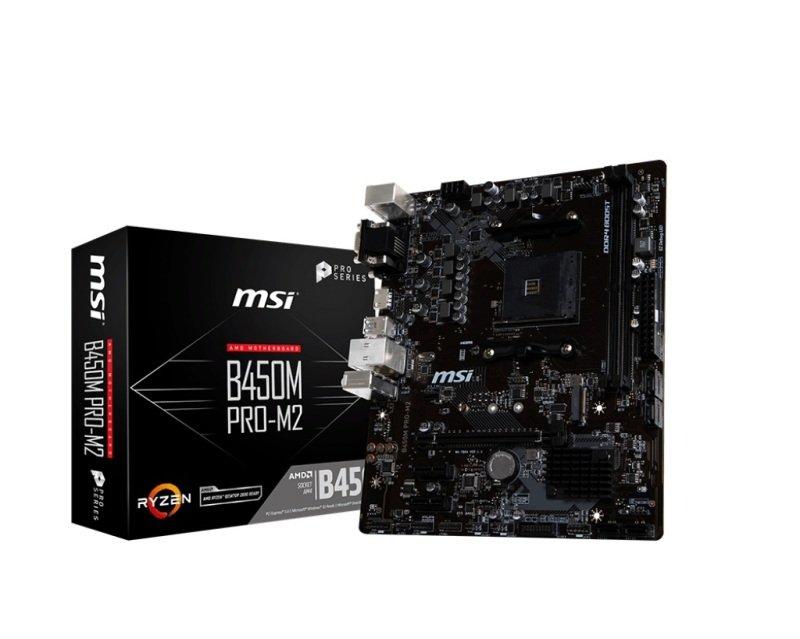 MSI B450M PRO-M2 AM4 DDR4 mATX Motherboard