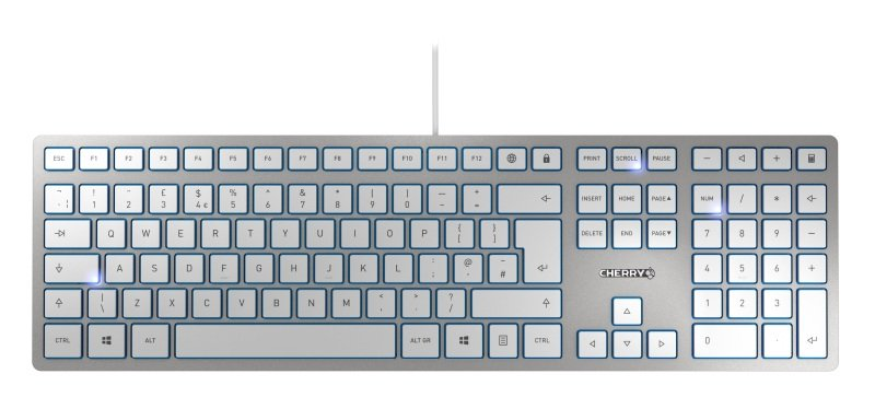 CHERRY KC6000 Slim Silver Wired Keyboard