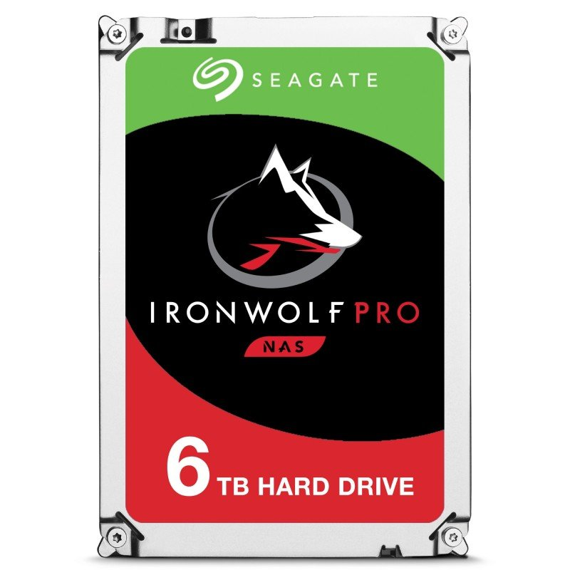 "Seagate IronWolf Pro 6TB NAS Hard Drive 3.5"" SATA III 6GB's 7200RPM 256MB Cache"