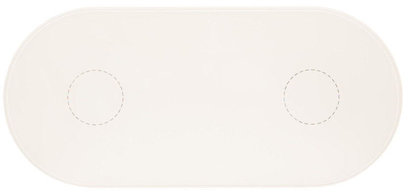 Dual Wireless Charging Pad White