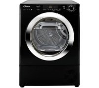 Candy GVS H9A2DCEB Freestanding 9kg Heat Pump Condenser Tumble Dryer Black with Chrome Door