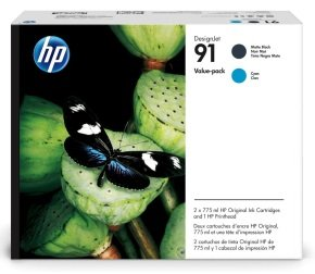 HP 91 Cyan and Matte Black Ink Value Pack