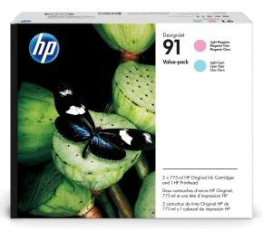 HP 91 Light Magenta and Light Cyan Ink Value Pack