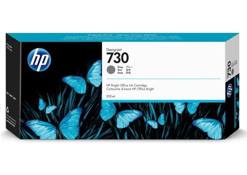 HP 730 Gray OriginalDesignjet Ink Cartridge - High Yield 300ml - P2V72A