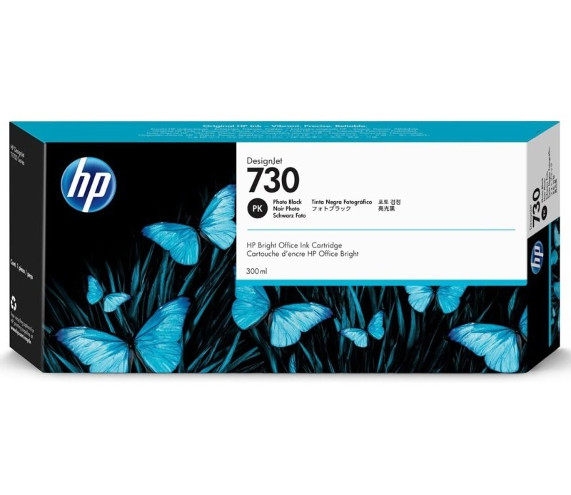 HP 730 Photo Black Original Designjet Ink Cartridge - High Yield	300ml - P2V73A