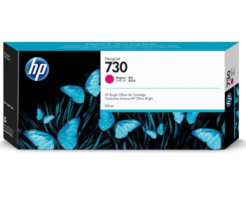 HP 730 Magenta OriginalDesignjet Ink Cartridge - High Yield 300ml - P2V69A