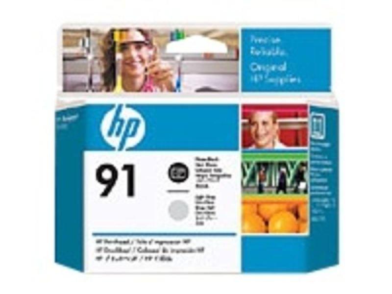 HP 91 Light Gray & Photo Black OriginalDesignJet Printhead For use with - HP DesignJet Z6100's - C9463A