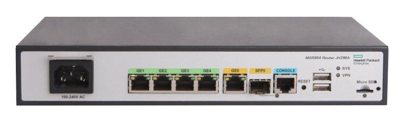 HPE MSR954 1GbE SFP 2GbE-WAN 4GbE-LAN CWv7 Router