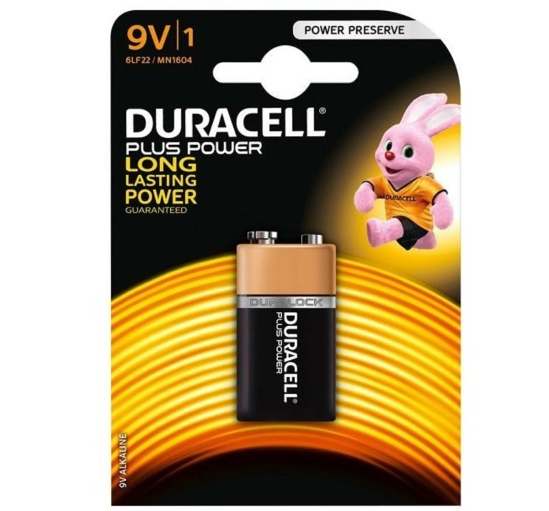 Duracell Plus Power Alkaline 9V Battery - Pack of 1