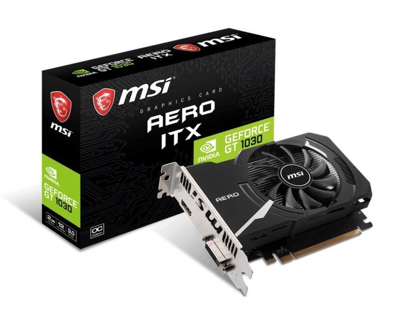 MSI GeForce GT 1030 AERO OC 2GB DDR4 Graphics Card