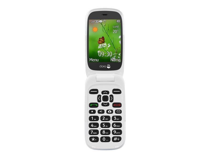 "Doro 6530 2.8"" Display Flip phone -  Black/White"