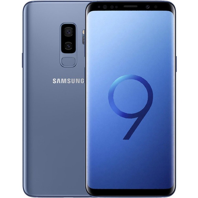 Image of Samsung Galaxy S9+ 4G LTE 128GB Smartphone - Coral Blue