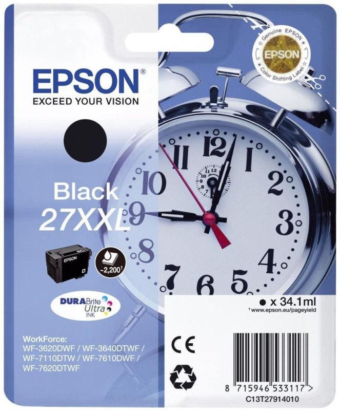 Epson Alarm Clock 27XXL Super High Yield Ink Cartridge - Black