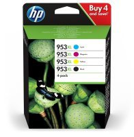 HP 953XL High Yield Multi-Pack Ink Cartridge - Black, Cyan, Magenta, Yellow