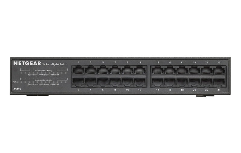 NETGEAR SOHO Gigabit Ethernet 24 Port Unmanaged Switch GS324