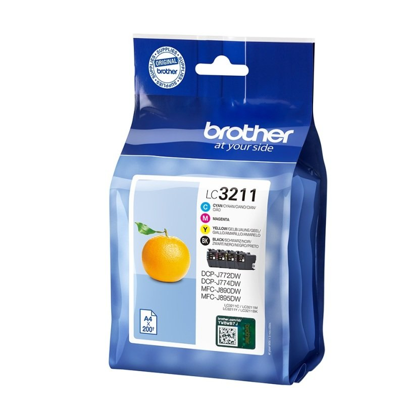 Brother LC3211 Value Pack K/C/M/Y Ink Cartridges