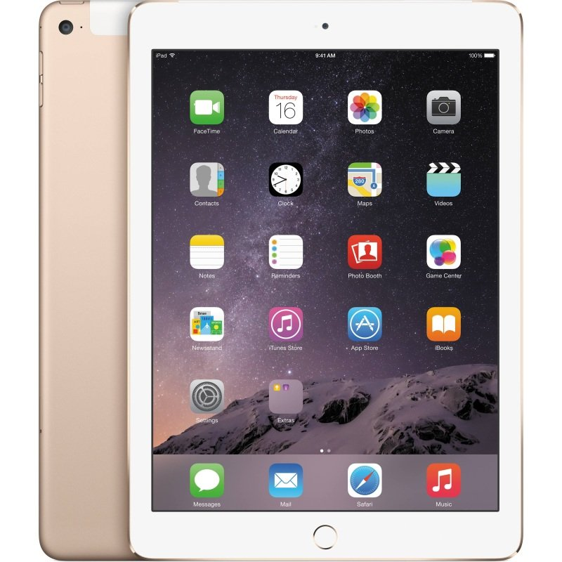 Apple iPad (6th Gen) 9.7 32GB Cellular, A10 Fusion chip 64bit, M10 Coprocessor, 32GB SSD, 9.7 IPS Retina 2048x1536, WIFI, Cellular, 8mp + 1.2mp Camera, Gold